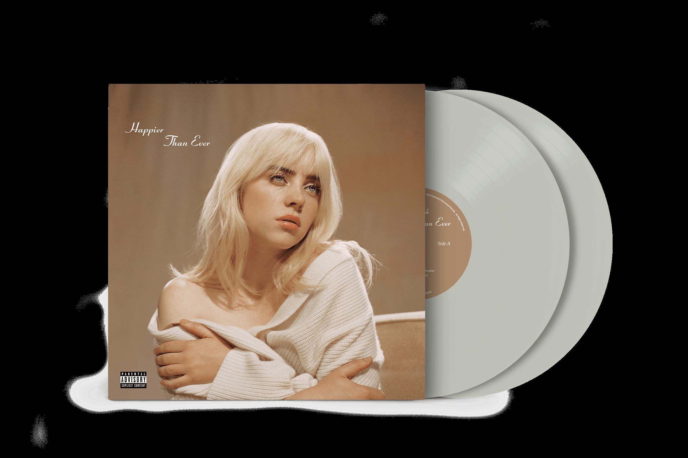 Official Billie Eilish Store - 'Happier Than Ever' Exclusive Cool Grey Vinyl  - Billie Eilish - 2LP