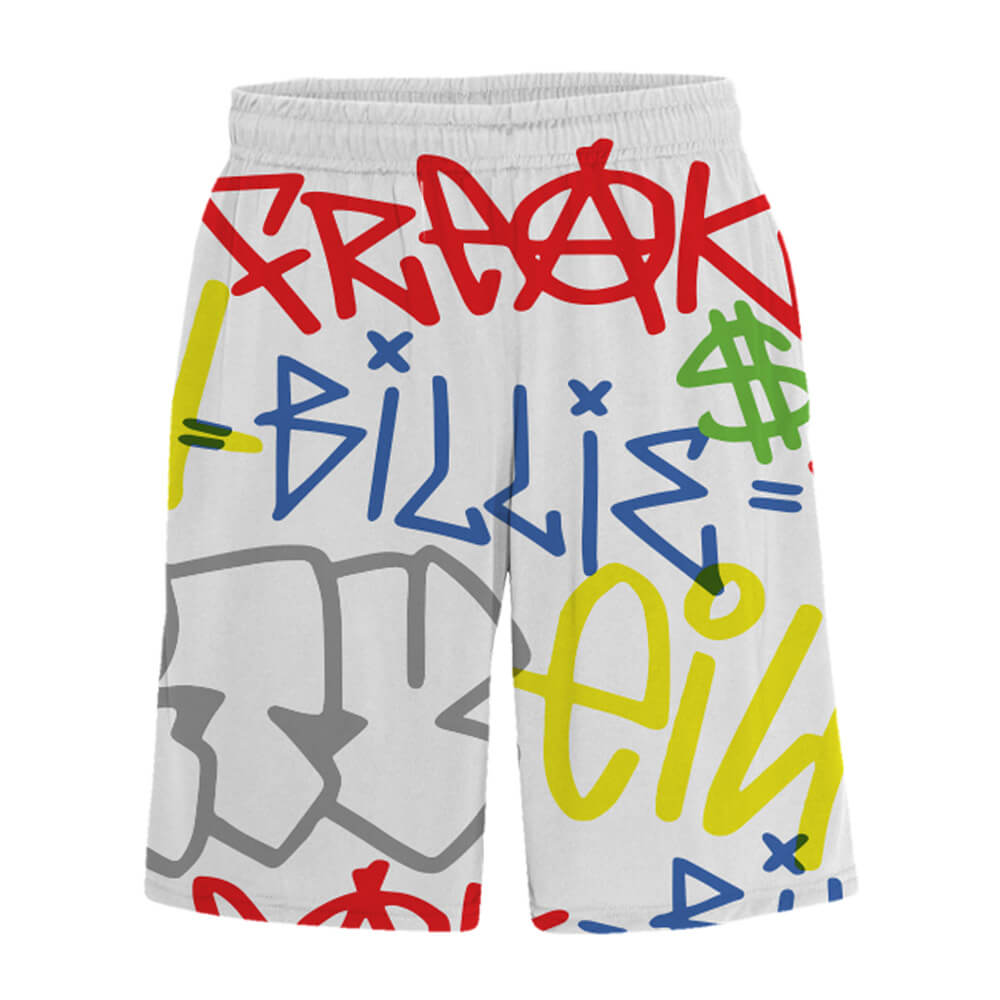 Billie Eilish Billie Eilish X Freakcity Graffiti Billie Eilish Shorts
