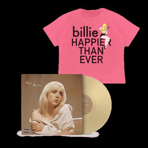 'Happier Than Ever' Exclusive Golden Yellow Vinyl + T-Shirt von Billie Eilish - LP + T-Shirt jetzt im Billie Eilish Shop
