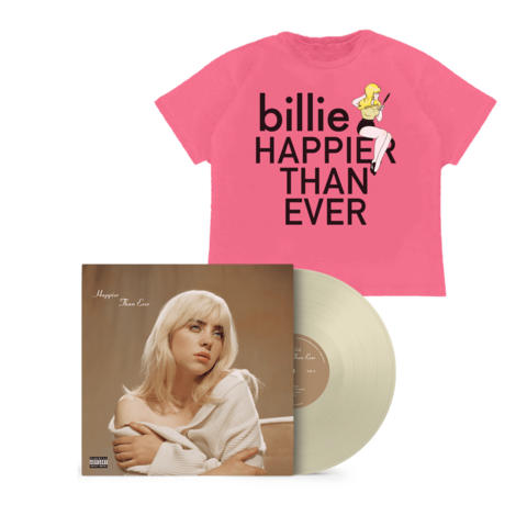 'Happier Than Ever' Exclusive Pale Yellow Vinyl + T-Shirt von Billie Eilish - LP + T-Shirt jetzt im Billie Eilish Shop