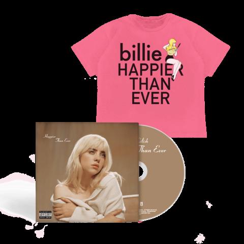 'Happier Than Ever' Photobook CD + T-Shirt von Billie Eilish - Book CD + T-Shirt jetzt im Billie Eilish Shop