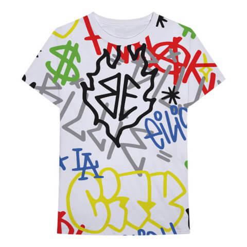 Billie Eilish x FreakCity Graffiti All Over von Billie Eilish - T-Shirt jetzt im Billie Eilish Shop