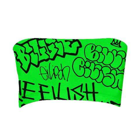 √Billie Eilish x FreakCity Green Graffiti von Billie Eilish - Tube top jetzt im Billie Eilish Shop