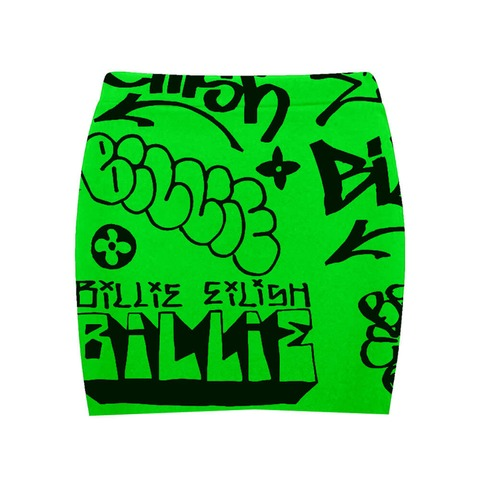 √Billie Eilish x FreakCity Green Graffiti von Billie Eilish - Minirock jetzt im Billie Eilish Shop