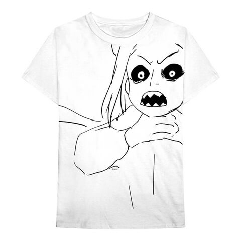 √Scary Sketch von Billie Eilish - Unisex Shirt jetzt im Billie Eilish Shop